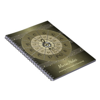 Circle of Fifths Music Journal Note Books