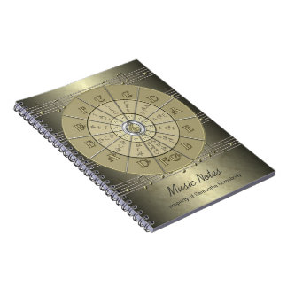 Circle of Fifths Music Journal Notebooks
