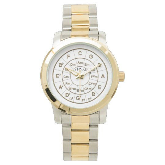 Circle of Fifths Time for Music Gold Watch