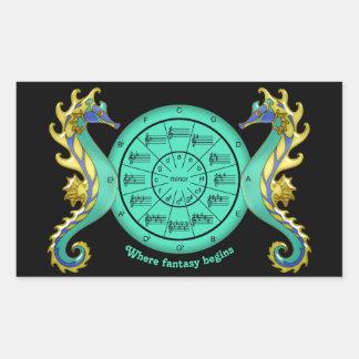 Circle of Fifths Where Music Fantasy Begins Rectangular Sticker