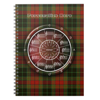 Circle of Fifths with a Celtic Plaid Flavor Spiral Notebook