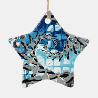 Circle of Flight Ceramic Star Decoration