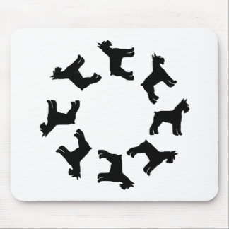 Circle of Giant Schnauzers (blk) Mouse Mat