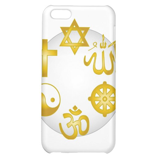 Circle of Golden Religious Symbols Cover For iPhone 5C