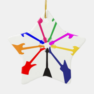 Circle Of Guitars Christmas Ornament
