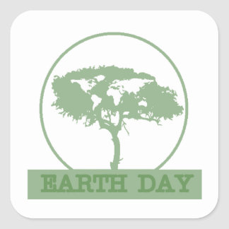 Circle Of Life Earth Day Stickers