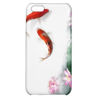 Circle of Life Oriental Zen Feng Shui Koi & Lotus iPhone 5C Cover
