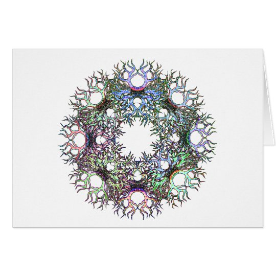 Circle of Life Pastel on White Greeting Card
