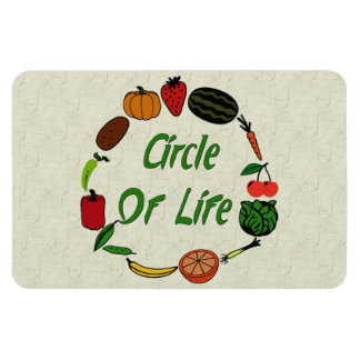 Circle Of Life Rectangular Photo Magnet