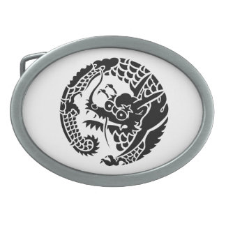 Circle of Nichiren sect dragon Belt Buckles