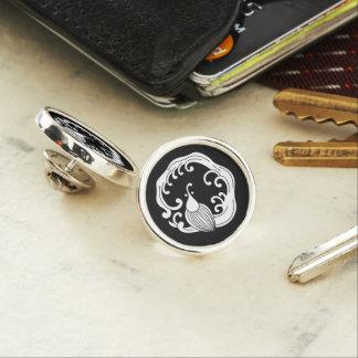 Circle of rainy dragon lapel pin