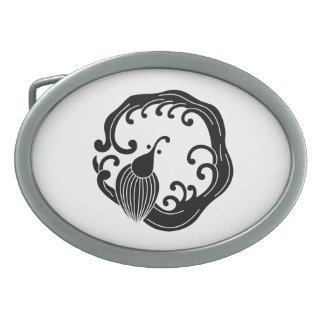 Circle of rainy dragon oval belt buckle