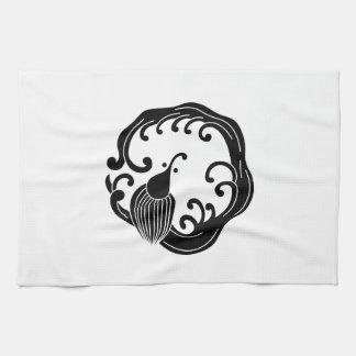 Circle of rainy dragon tea towel