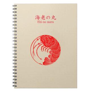 Circle of shrimp note books