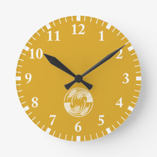 Circle of two head-to-tail rice plants wall clock