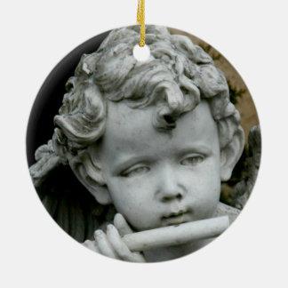 Circle Ornament Cherub and his Flute