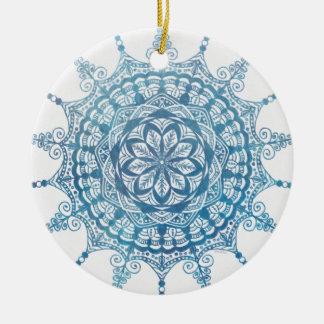 Circle Ornament Lovely Blue Mandala Design