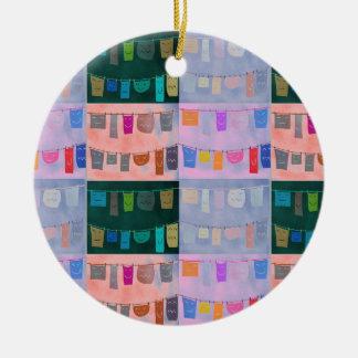 "Circle ornament ""Panni stesi"""