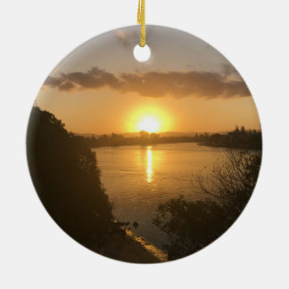 Circle Ornament sunset.