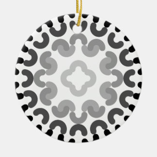 circle pattern christmas ornament