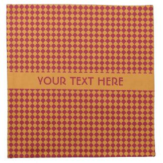 Circle Pattern custom cloth napkins