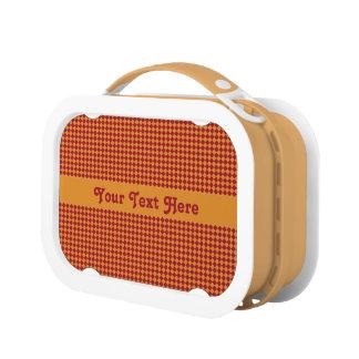 Circle Pattern custom monogram lunch box