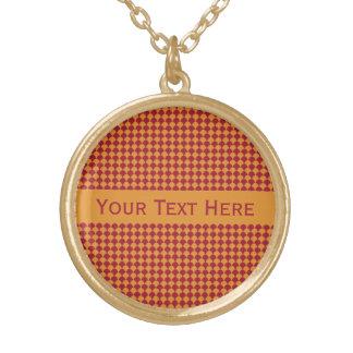 Circle Pattern custom necklace
