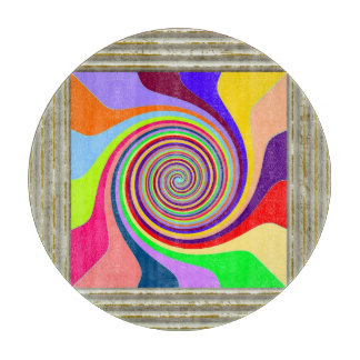 Circle Pattern In MultiColors Cutting Board
