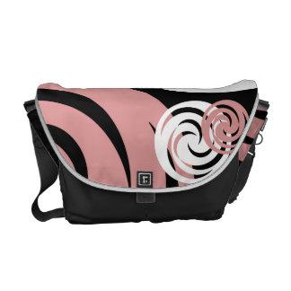 Circle pattern messenger bag