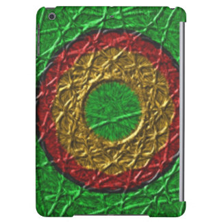 Circle pattern on green background iPad air cover