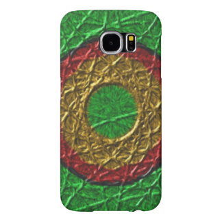 Circle pattern on green background samsung galaxy s6 cases
