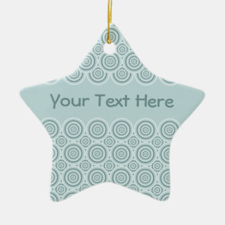 Circle Pattern ornament, customize Christmas Ornament