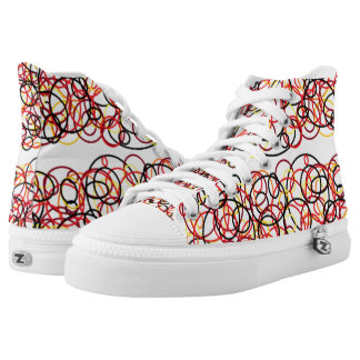 circle pattern shoes printed shoes