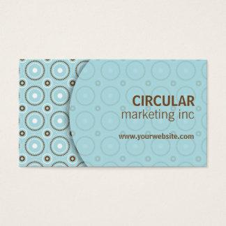 Circle Pattern Underlay Business Card