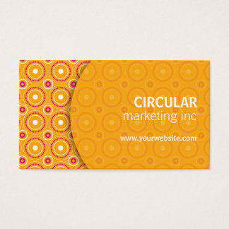 Circle Pattern Underlay Business Card