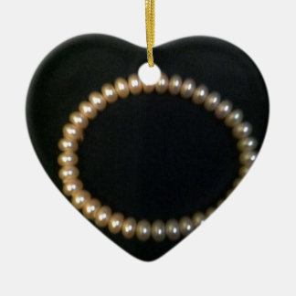 Circle Pearl Christmas Ornament