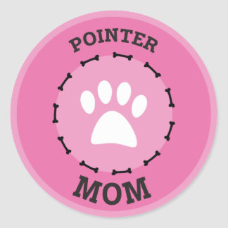 Circle Pointer Mom Badge Classic Round Sticker