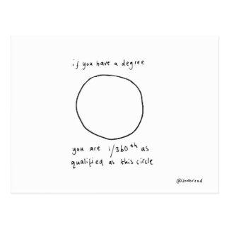 circle postcard