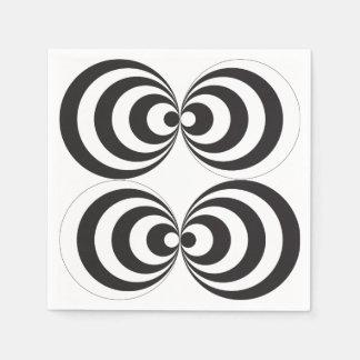 CIRCLE PRINT DESIGN PAPER NAPKIN