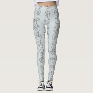 Circle print leggings