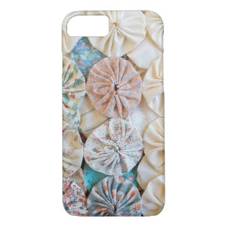 circle puff patchwork quilt design iPhone 7 case