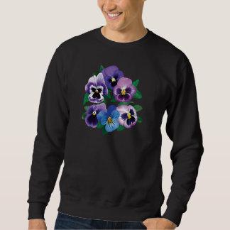 Circle Purple Pansies Mens Sweatshirt