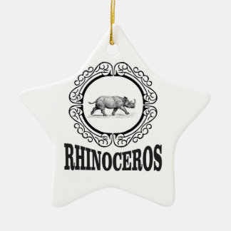 Circle Rhino Christmas Ornament