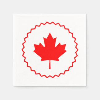 Circle Round Canada Day Party Paper Napkins Paper Napkin