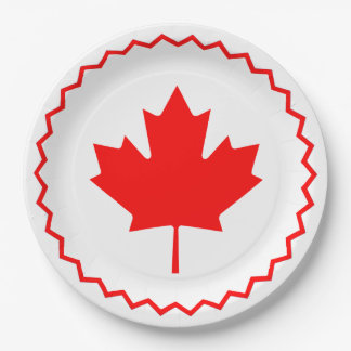 Circle Round Canada Day Party Paper Plates