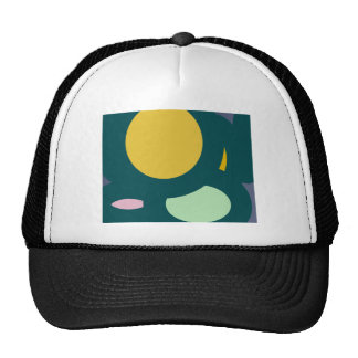 circle shape round shape mesh hats