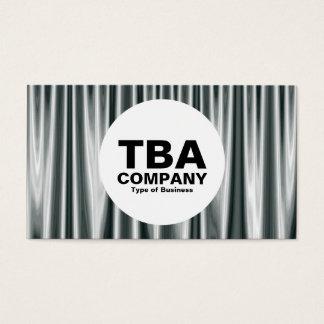 Circle - Silver Curtains 02 Business Card