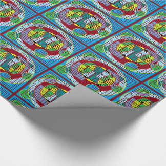 circle square pattern gift wrap wrapping paper
