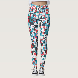 Circle & Squares Abstract Leggings