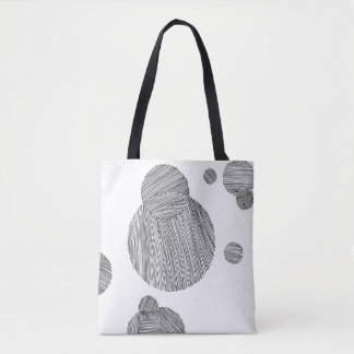 Circle Stripes Tote Bag